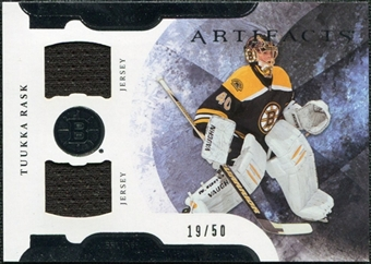2011/12 Upper Deck Artifacts Horizontal Jerseys #40 Tuukka Rask /50