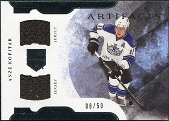 2011/12 Upper Deck Artifacts Horizontal Jerseys #46 Anze Kopitar /50