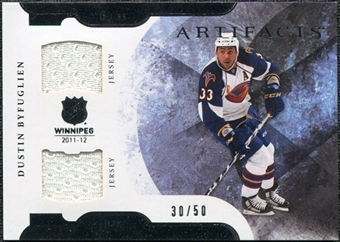 2011/12 Upper Deck Artifacts Horizontal Jerseys #49 Dustin Byfuglien /50