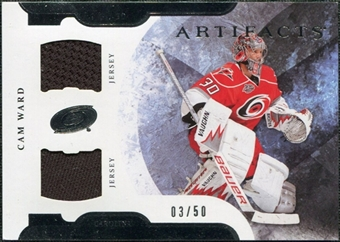 2011/12 Upper Deck Artifacts Horizontal Jerseys #58 Cam Ward /50