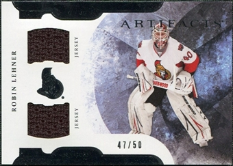 2011/12 Upper Deck Artifacts Horizontal Jerseys #97 Robin Lehner /50