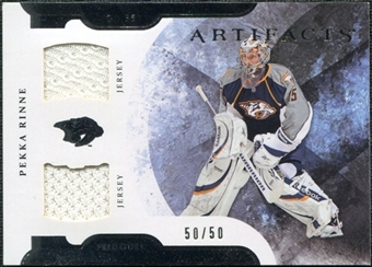 2011/12 Upper Deck Artifacts Horizontal Jerseys #98 Pekka Rinne /50
