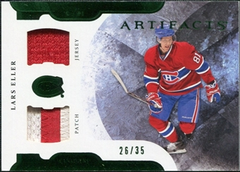2011/12 Upper Deck Artifacts Horizontal Jerseys Patches Emerald #36 Lars Eller /35