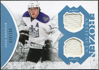 2011/12 Upper Deck Artifacts Frozen Artifacts Jerseys Blue #FAAK Anze Kopitar /135