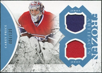 2011/12 Upper Deck Artifacts Frozen Artifacts Jerseys Blue #FACP Carey Price /135