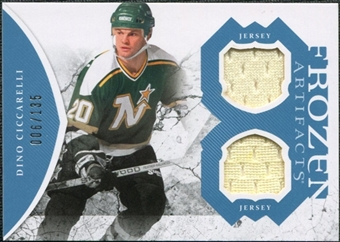 2011/12 Upper Deck Artifacts Frozen Artifacts Jerseys Blue #FADC Dino Ciccarelli /135