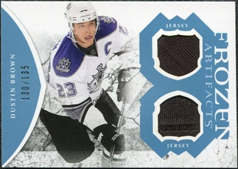 2011/12 Upper Deck Artifacts Frozen Artifacts Jerseys Blue #FADU Dustin Brown /135