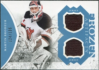 2011/12 Upper Deck Artifacts Frozen Artifacts Jerseys Blue #FAMB Martin Brodeur /135