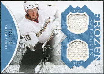 2011/12 Upper Deck Artifacts Frozen Artifacts Jerseys Blue #FAPE Corey Perry /135