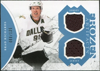 2011/12 Upper Deck Artifacts Frozen Artifacts Jerseys Blue #FARI Brad Richards /135