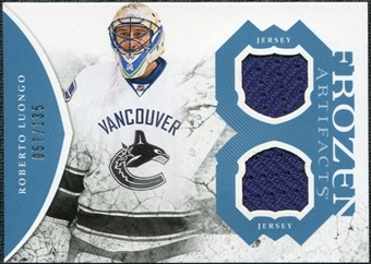 2011/12 Upper Deck Artifacts Frozen Artifacts Jerseys Blue #FARL Roberto Luongo /135