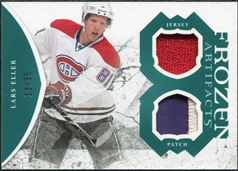 2011/12 Upper Deck Artifacts Frozen Artifacts Jerseys Patches Emerald #FALE Lars Eller /35