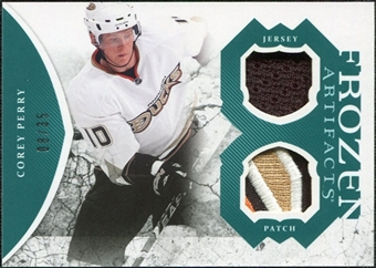 2011/12 Upper Deck Artifacts Frozen Artifacts Jerseys Patches Emerald #FAPE Corey Perry /35