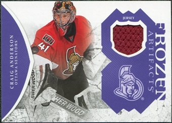 2011/12 Upper Deck Artifacts Frozen Artifacts Jerseys Purple #FACA Craig Anderson