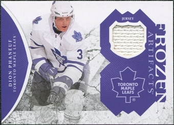 2011/12 Upper Deck Artifacts Frozen Artifacts Jerseys Purple #FADP Dion Phaneuf