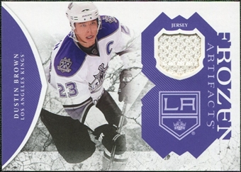 2011/12 Upper Deck Artifacts Frozen Artifacts Jerseys Purple #FADU Dustin Brown