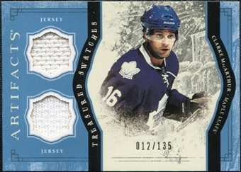 2011/12 Upper Deck Artifacts Treasured Swatches Blue #TSCM Clarke MacArthur /135