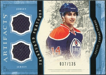2011/12 Upper Deck Artifacts Treasured Swatches Blue #TSJE Jordan Eberle /135
