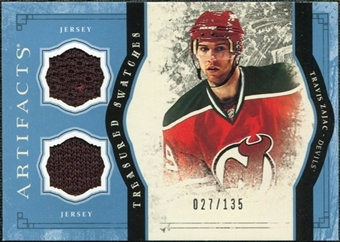 2011/12 Upper Deck Artifacts Treasured Swatches Blue #TSTZ Travis Zajac /135