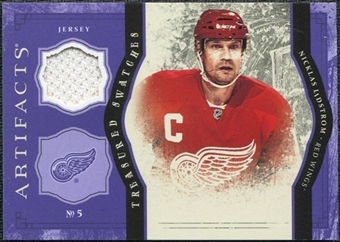 2011/12 Upper Deck Artifacts Treasured Swatches Purple #TSNL Nicklas Lidstrom