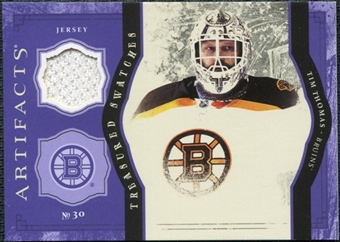 2011/12 Upper Deck Artifacts Treasured Swatches Purple #TSTT Tim Thomas