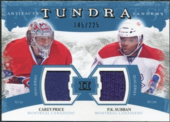 2011/12 Upper Deck Artifacts Tundra Tandems Jerseys Blue #TT2CP Carey Price / P.K. Subban /225