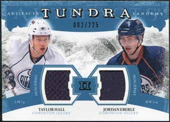 2011/12 Upper Deck Artifacts Tundra Tandems Jerseys Blue #TT2EH Taylor Hall / Jordan Eberle /225