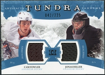 2011/12 Upper Deck Artifacts Tundra Tandems Jerseys Blue #TT2FH Cam Fowler / Jonas Hiller /225