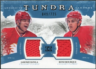 2011/12 Upper Deck Artifacts Tundra Tandems Jerseys Blue #TT2IB Jarome Iginla / Rene Bourque /225