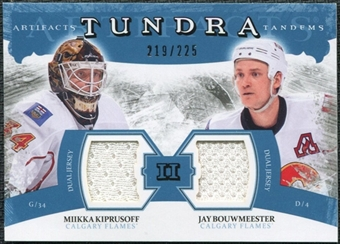 2011/12 Upper Deck Artifacts Tundra Tandems Jerseys Blue #TT2MJ Miikka Kiprusoff / Jay Bouwmeester /225