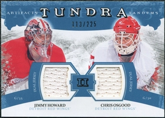 2011/12 Upper Deck Artifacts Tundra Tandems Jerseys Blue #TT2OH Jim Howard Chris Osgood /225