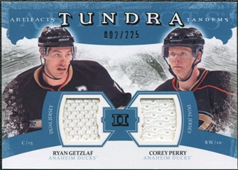2011/12 Upper Deck Artifacts Tundra Tandems Jerseys Blue #TT2PG Ryan Getzlaf / Corey Perry /225