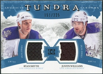 2011/12 Upper Deck Artifacts Tundra Tandems Jerseys Blue #TT2RJ Ryan Smyth / Justin Williams /225