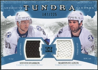 2011/12 Upper Deck Artifacts Tundra Tandems Jerseys Blue #TT2SM Steven Stamkos / Martin St. Louis /225
