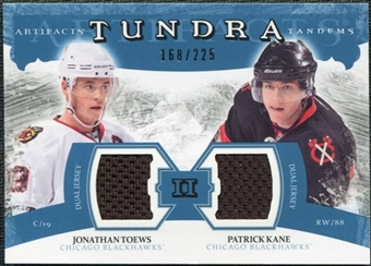 2011/12 Upper Deck Artifacts Tundra Tandems Jerseys Blue #TT2TK Jonathan Toews / Patrick Kane /225