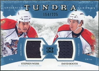 2011/12 Upper Deck Artifacts Tundra Tandems Jerseys Blue #TT2WB David Booth / Stephen Weiss /225