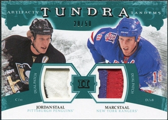 2011/12 Upper Deck Artifacts Tundra Tandems Patches Emerald #TT2JM Jordan Staal / Marc Staal /50