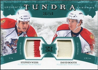 2011/12 Upper Deck Artifacts Tundra Tandems Patches Emerald #TT2WB David Booth / Stephen Weiss /50