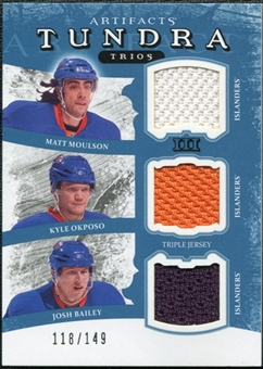 2011/12 Upper Deck Artifacts Tundra Trios Jerseys Blue #TT3NYI Matt Moulson Kyle Okposo Josh Bailey /149