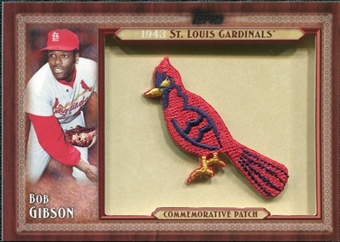 2011 Topps Commemorative Patch #BG Bob Gibson
