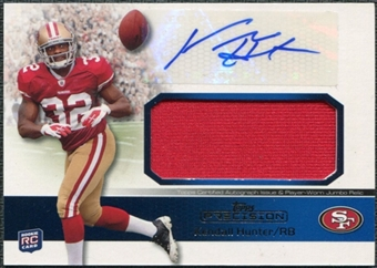 2011 Topps Precision Rookie Jumbo Relic Autographs #RAJRKH Kendall Hunter