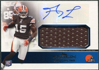2011 Topps Precision Rookie Jumbo Relic Autographs #RAJRGL Greg Little