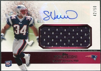 2011 Topps Precision Rookie Jumbo Relic Autographs Red #RAJRSV Shane Vereen /50