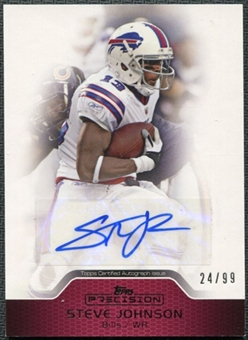 2011 Topps Precision Autographs Red #PCVASJ Steve Johnson Autograph /99
