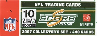2007 Score Football Factory Set