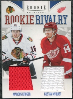 2011/12 Panini Rookie Anthology Rookie Rivalry Dual Jerseys #7 Marcus Kruger/Gustav Nyquist