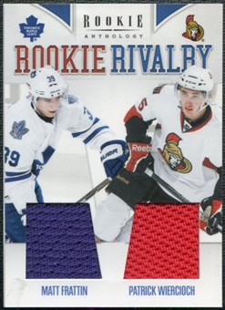 2011/12 Panini Rookie Anthology Rookie Rivalry Dual Jerseys #28 Matt Frattin Patrick Wiercioch