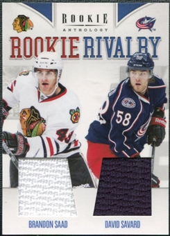 2011/12 Panini Rookie Anthology Rookie Rivalry Dual Jerseys #38 Brandon Saad/David Savard