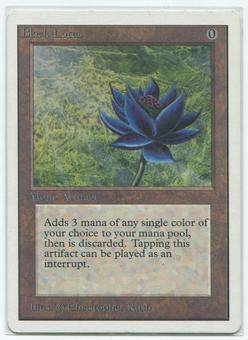 Magic the Gathering Unlimited Single Black Lotus - NEAR MINT MINUS (NM-)
