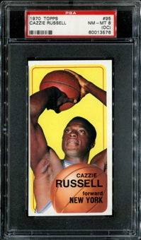 1970/71 Topps Basketball #95 Cazzie Russell PSA 8 (NM-MT) (OC) *3576